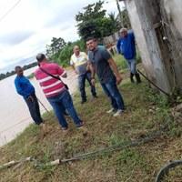 Após desbarrancamento, Vereadores visitam a Sasba