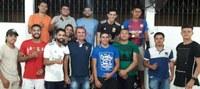 Louro da Vivi participa de reunião com próxima turma de marinheiros navais